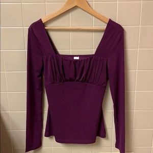 Tops - Worn once plum colored long sleeve blouse